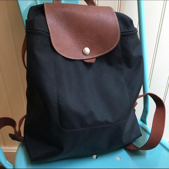34ae99d24fd Longchamp Handbags - Longchamp Le Pliage Backpack black