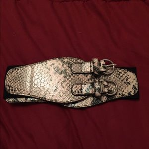 New York & Company Accessories - Faux snakeskin belt