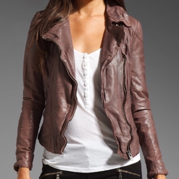 de94891c772975 Muubaa Jackets & Coats | Biker Waxed Leather Jacket | Poshmark