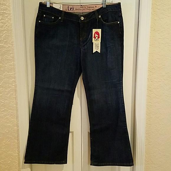 bd7d99d028a L.E.I dark wash jeans plus size 17