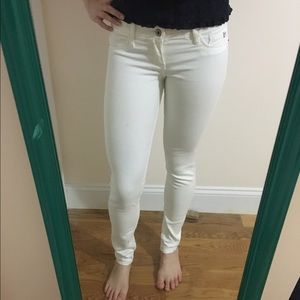 Abercrombie white jeans