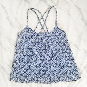 SOLD ON M | Blue and white tank top