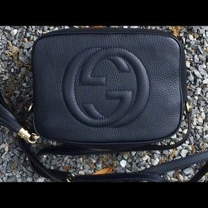 Gucci Handbags - Gucci Disco Navy Blue Shoulder Bag