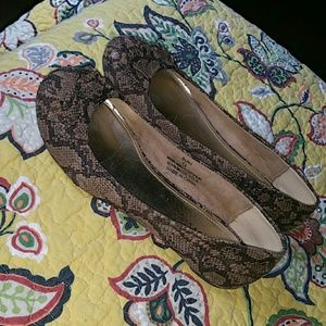Coconuts  Shoes - Snake skin black and taupe flats size 7.5