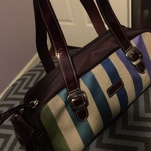 FIRM price. Longchamp satchel bag. Multicolor.