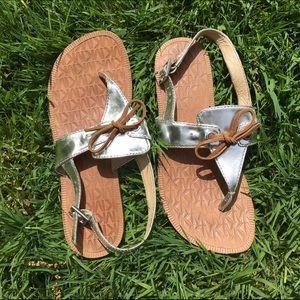 Michael Kors Shoes - Michael Kors MK embossed sandals