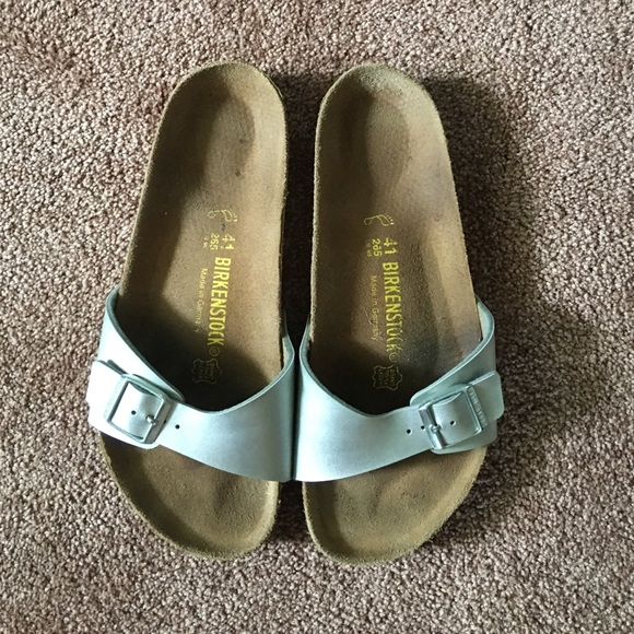 4e6d892a45cc Birkenstock Shoes - Birkenstock Madrid Single Strap Sandals-Silver