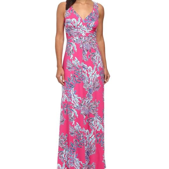 Lilly Pulitzer Dresses Capri Pink Samba Sloane Maxi Dress Poshmark
