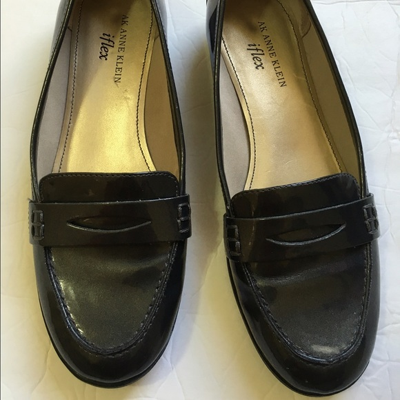 eb4322985f9 Anne Klein Shoes - ANNE KLEIN IFLEX LOAFERS GRAY PATENT LEATHER 7 M