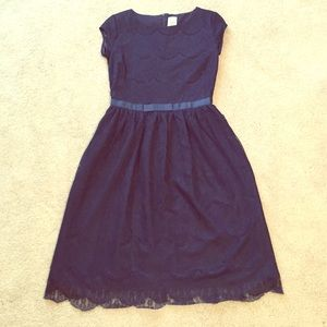 Shabby Apple Dresses & Skirts - 🎉HP🎉Gorgeous navy blue lace dress