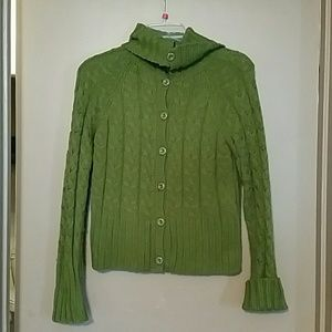Link Sweaters - Cable knit Button Up Sweater