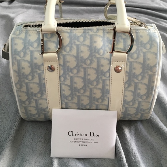 Dior Handbags - Baby blue Dior Girly Boston speedy RARE 05b1e3ff6c2f8