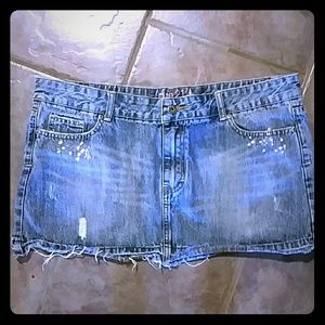 rue 21 Distressed Mini Skirt