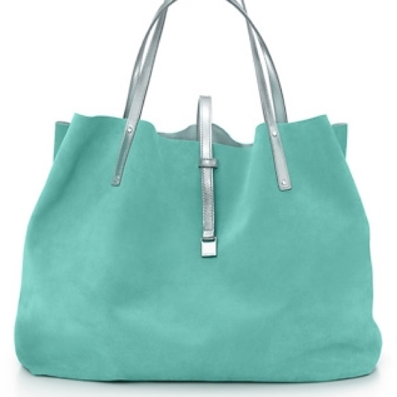 0e34dfd061 Tiffany & Co. Bags | Authentic Tiffany Co Reversible Suede Tote Bag ...