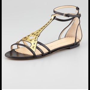 Charlotte Olympia Shoes - Charlotte Olympia Gold Parisienne Eiffel Tower