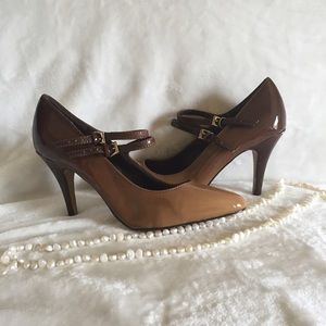 Vintage Patent Leather Brownish Pumps Size 7