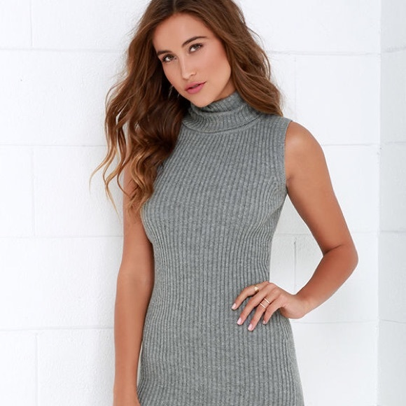 926d48e5dc7b Lulu s Dresses   Skirts - Lulu s Cozy on Down Grey Midi Sweater ...