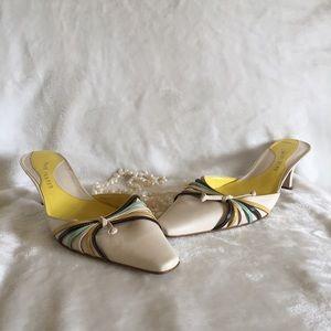 Vintage Kitten Heel Slip On Heels Size 7.5 7 1/2
