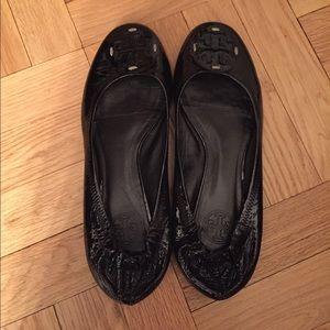 Tory Burch Black Patent Leather Ballet Flat