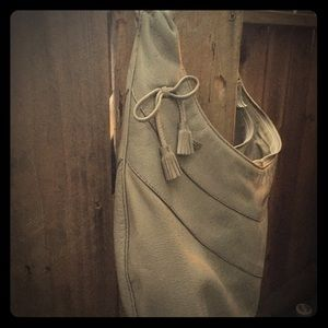 Anya Hindmatch grey hobo bag