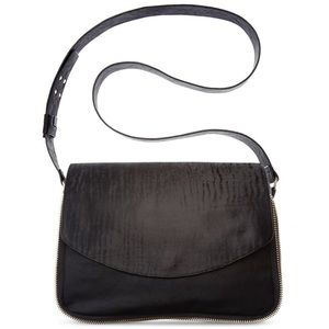 French Connection Handbags - French Connection Flip Top Black Crossbody Bag