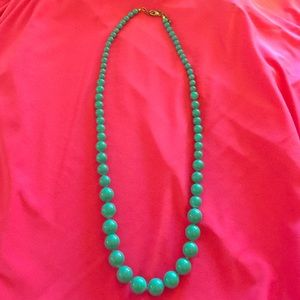 Vintage turquoise graduated bead necklace