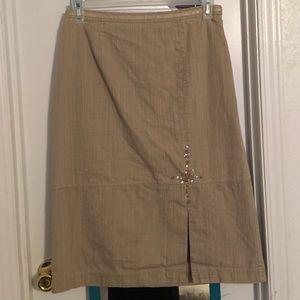City Girl Dresses & Skirts - Tan Jean skirt