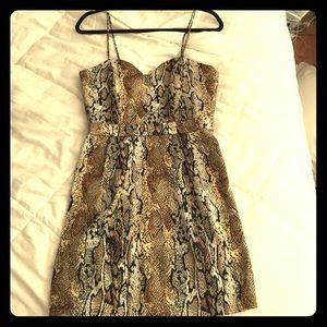 Naven Dresses & Skirts - Naven leopard and snakeskin print mini dress