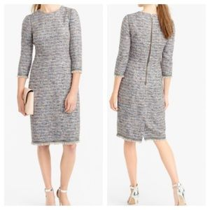 J.crew Tall LS Multicolored Tweed Dress