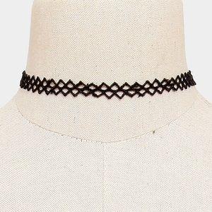 Crochet tattoo choker necklace