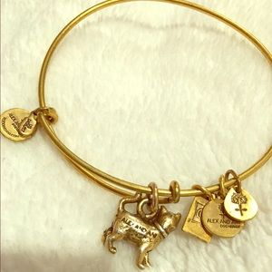 Gold cat Alex and Ani bangle