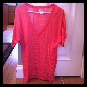 Size small coral maternity shirt