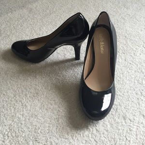 Kelly & Katie Shoes - Black leather heels