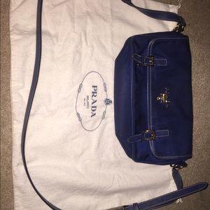 best replica prada sneakers - 64% off Prada Handbags - Prada Navy Blue nylon cross body from ...