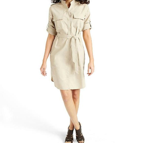 6b949f0d4f6 Brooks Brothers Dresses   Skirts - BROOKS BROTHERS Khaki Safari Shirt Dress