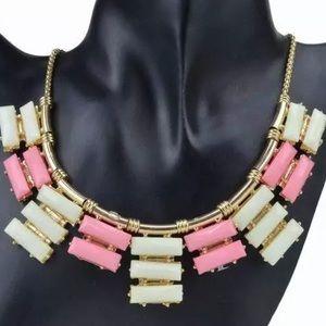 Neutral tone statement necklace