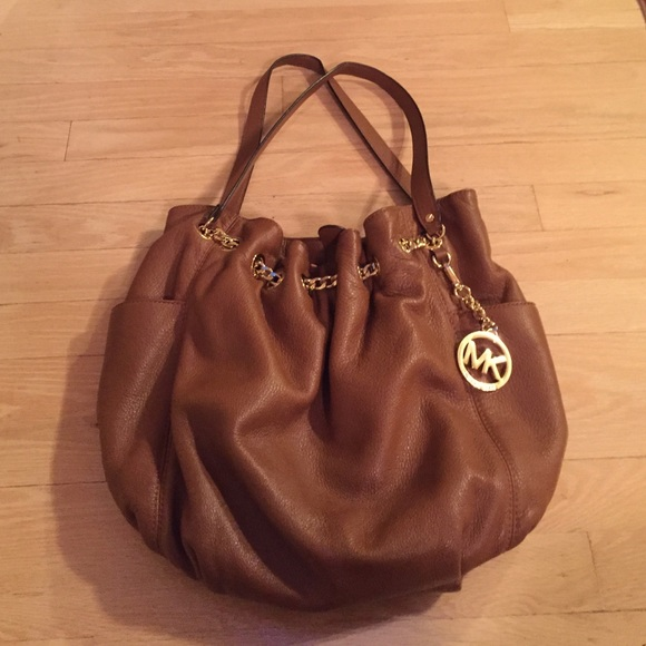 ce5d74927a7d Michael Kors Bags | Authentic Mk Brown Slouchy Leather Bag | Poshmark