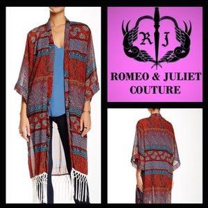 Romeo & Juliet Couture Tops - Romeo + Juliet Couture Fringe Kimono