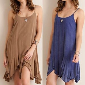 Dresses & Skirts - Washed Ruffled Slip Dress