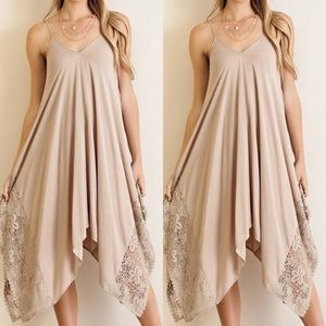 Dresses & Skirts - Handkerchief Dress SAND