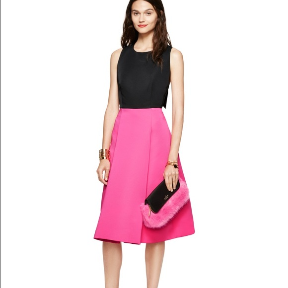 ddae253391 Kate spade NWT NJMU5557 color block bow back dress