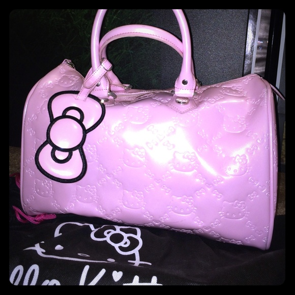 5cd474b4c Hello Kitty Handbags - Loungefly X Hello Kitty pink pleather barrel bag