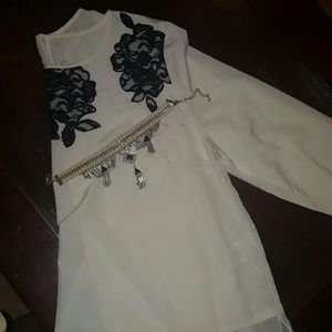 Long sleeve sheer dress shirt
