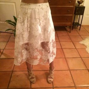 Hot & Delicious White Sheer Midi Skirt