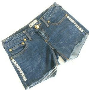 Free People Pants - Free People studded denim cutoff shorts