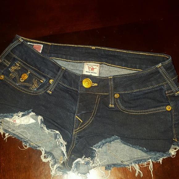 f0f67466ca True Religion Jeans | Vintage Stitch Booty Shorts | Poshmark