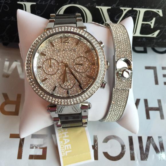 Michael Kors watch and Bracelet set 6aeb8d30fdc79