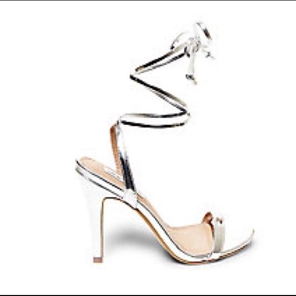 30% off Steve Madden Shoes - Steve Madden Mysty silver lace up ...
