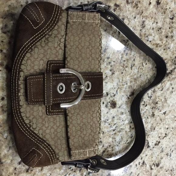 72% off Coach Handbags - Coach short strap shoulder bag from ...