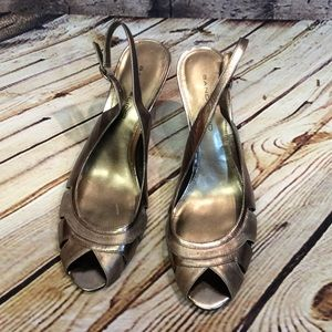 Bandolino Shoes - 8.5 BANDOLINO FIORENZA SLINGBACK PEEP-TOE PUMPS